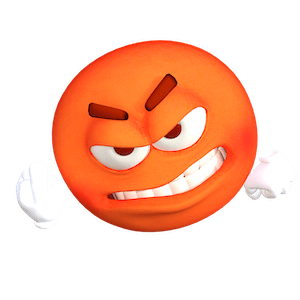 Very angry emoji symbolizing an unhappy customer