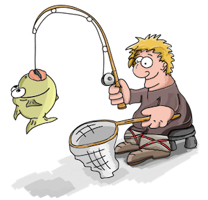 Applying Sales Skills is like fishing.