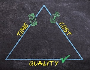 Three components of each purchase are quality, service and price